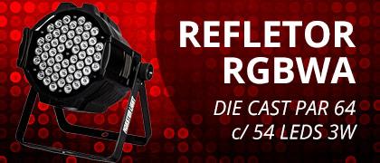 Refletor RGBWA Par 64