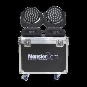 Moving Wash com zoom - 36 led 12W 4IN1 RGBW (PAR NO CASE)